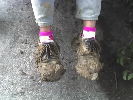 pink mud shoes