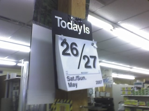 today is may26
