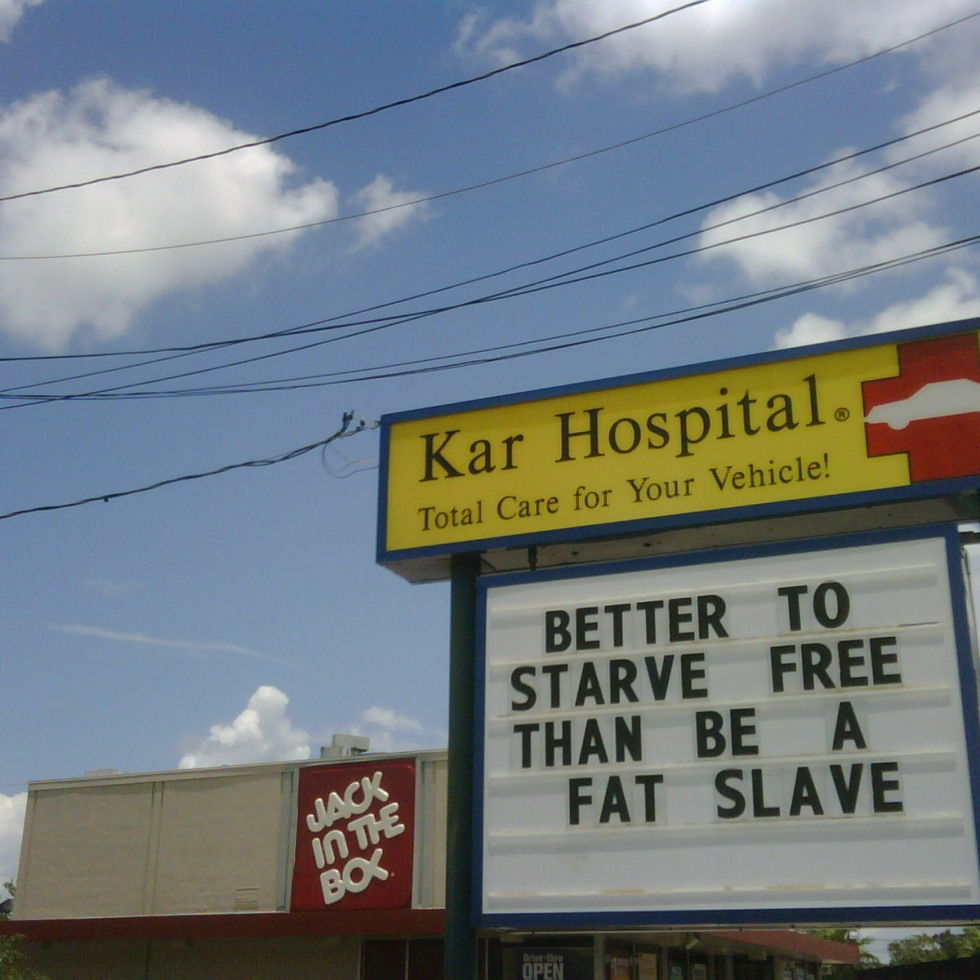 better to starve free than be a fat slave