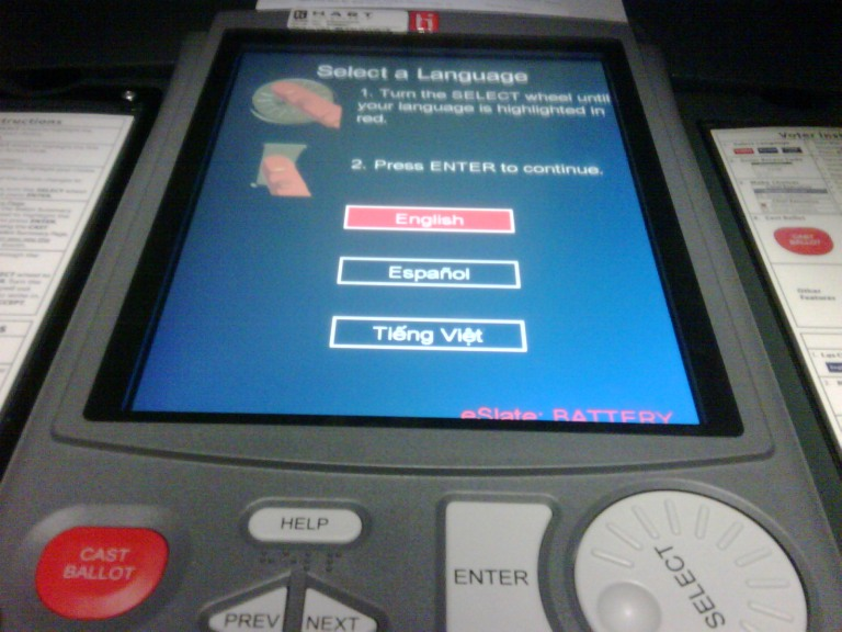 eslate voting machine