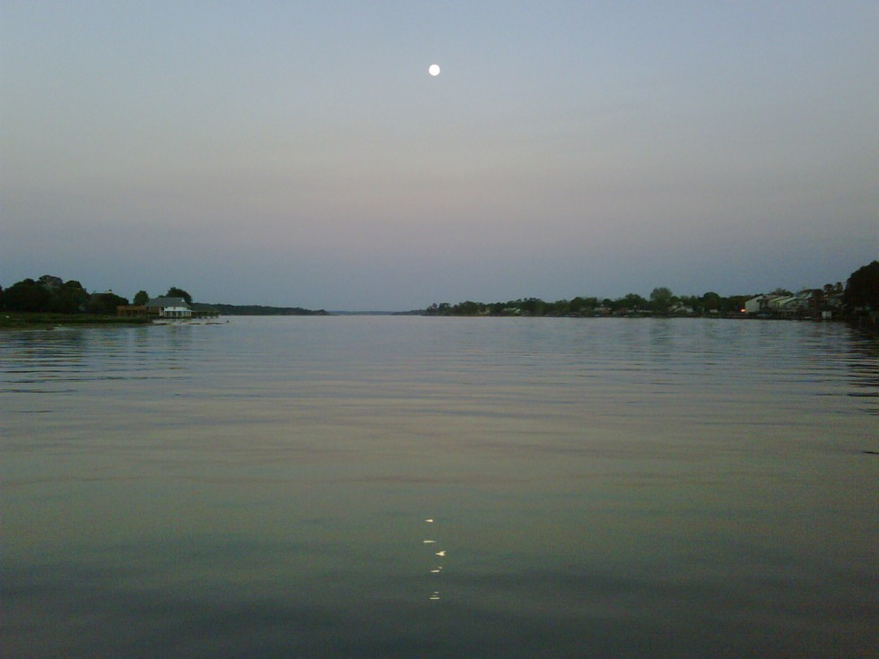The Moon On Lake Conroe