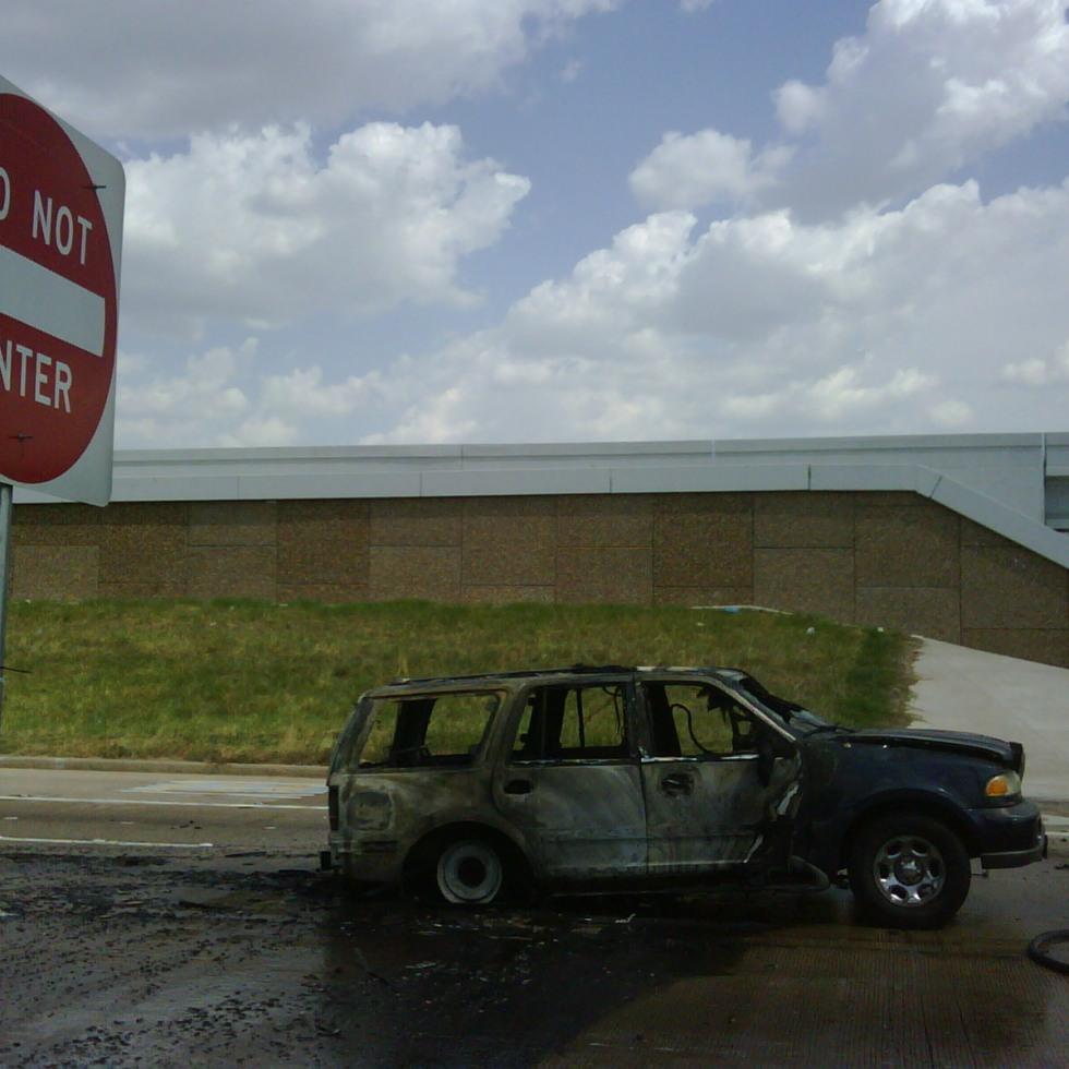 Exploding SUV inferno